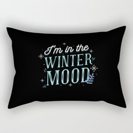 I am in the wintermood nice winter theme letters Rectangular Pillow