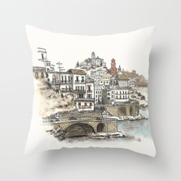 Amalfi Coast memory Throw Pillow
