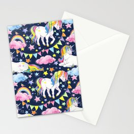 Unicorns, Rainbows & Stars Stationery Cards
