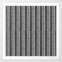 herringbone Art Prints featuring Herringbone Stripe by Project M