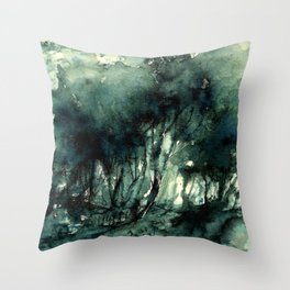 mürekkeple orman Throw Pillow