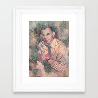 frank sinatra Framed Art Prints featuring Frank Sinatra by Nechifor Ionut