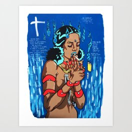 Wicked Bleu I Art Print