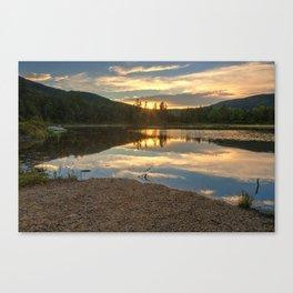 Lily Pond Sunset Canvas Print
