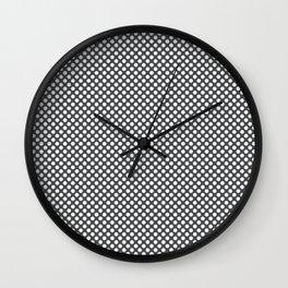 Dark Shadow and White Polka Dots Wall Clock