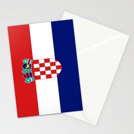 Flag of croatia -croatian, Hrvatska,croat,croacia,Zagreb,split,rijeka,osijek. Stationery Cards