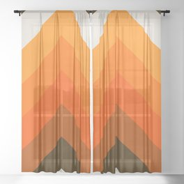 Golden Thick Angle Sheer Curtain