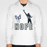 nope Hoodies featuring NOPE by Gold Lining