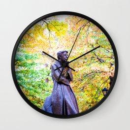 Eleanor Roosevelt Statue in Riverside Park Wall Clock