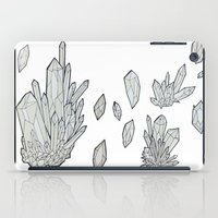 crystals iPad Cases featuring Crystals by Sushibird