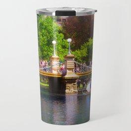 Boston Public Garden & Swan Boats Travel Mug