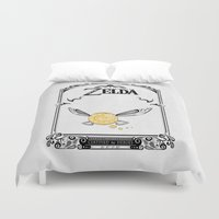 the legend of zelda Duvet Covers featuring Zelda legend - Navi by Art & Be