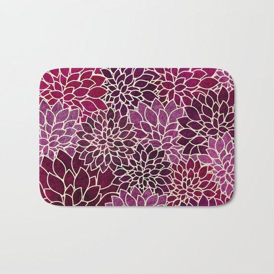 Floral Abstract 12 Bath Mat