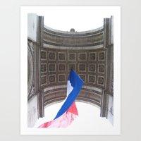 Under The Arc de Triomphe Art Print