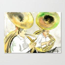 Two sousaphones Canvas Print