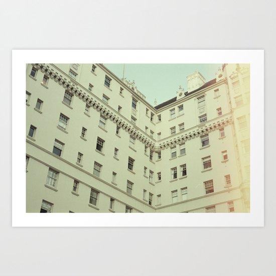 Vintage San Francisco Architecture (Film) Art Print