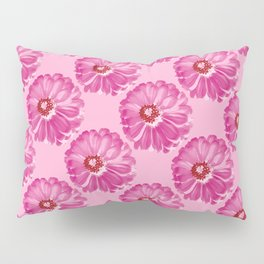 Abstract Photo Large Pink Flower Pillow Sham