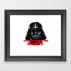 Force Choke Framed Art Print