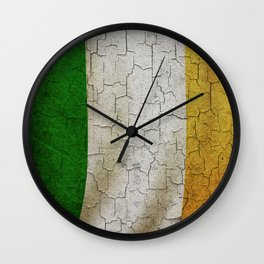Vintage Ireland flag Wall Clock