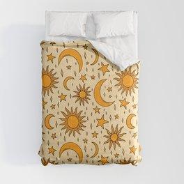 Vintage Sun and Star Print Comforters