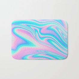 neon holographic Bath Mat