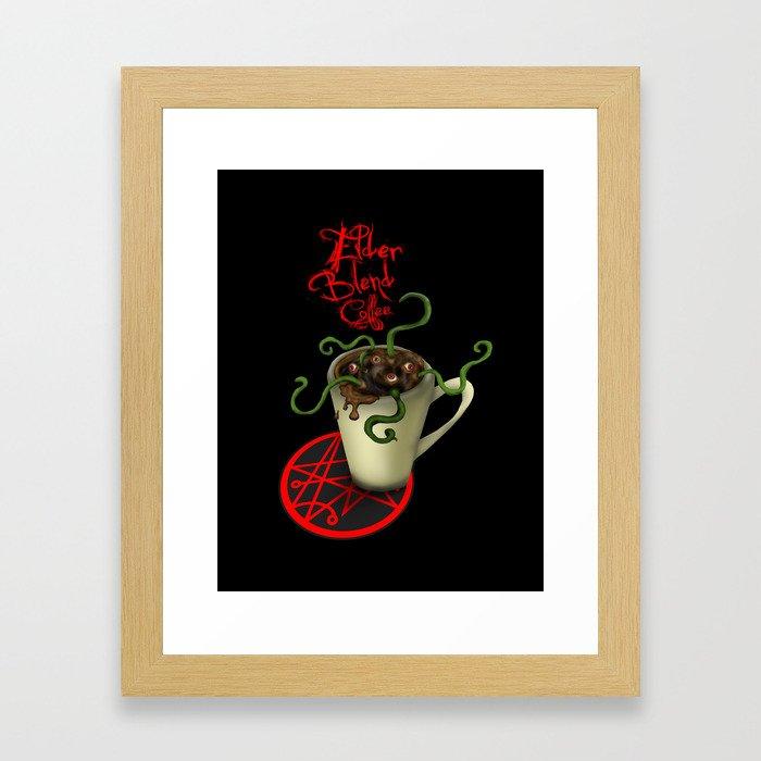 Elder Blend Coffee Framed Art Print
