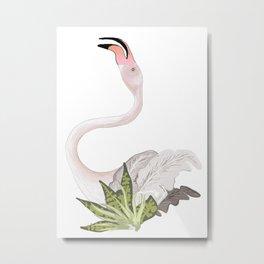 dancing flamingo 2 Metal Print