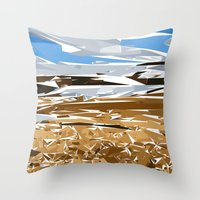 iceland Throw Pillows featuring iceland by Matthias Hennig