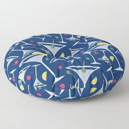 Blue Martinis Floor Pillow