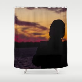BEDOUIN SUNSET III Shower Curtain