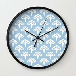 Floral Pattern Pale Blue 243 Wall Clock