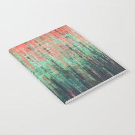 Coral Mint Navy Abstract Notebook