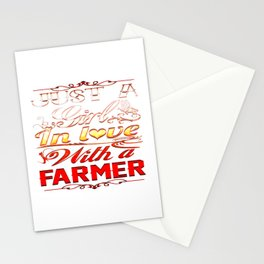 In love with a farmer Stationery Cards