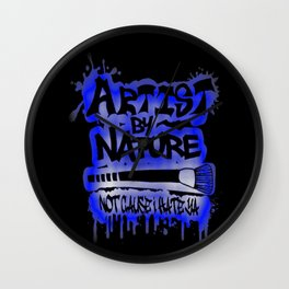 Artist By Nature Graffiti Blue Wall Clock