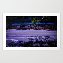 Market St. Eyes Art Print