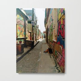 Graffiti alleyway in Valparaiso Metal Print