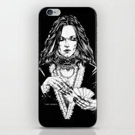 Smoker Lady. In Black Silk. Yury Fadeev iPhone Skin