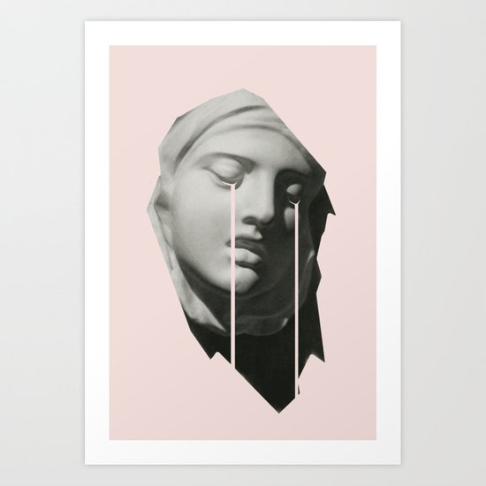 Tears in pink Art Print