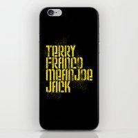 steelers iPhone & iPod Skins featuring Terry Franco Mean Joe Jack / Black by Brian Walker