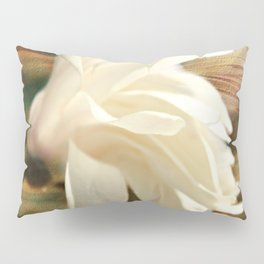 Sweet Creamy White Magnolia Blossom Pillow Sham