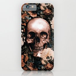 SKULL AND FLOWERS II iPhone Case