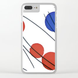Blue Orange Red Drops Clear iPhone Case