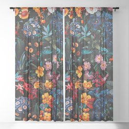 Midnight Garden XVI Sheer Curtain