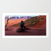 navajo Art Prints featuring Navajo by Camilla Häggblom