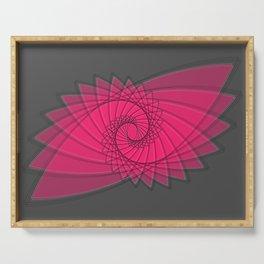 hypnotized - fluid geometrical eye shape Serving Tray