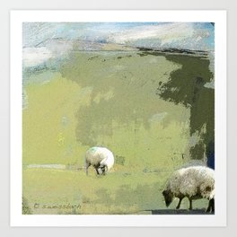 2 Sheep Art Print