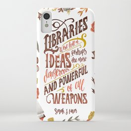 LIBRARIES WERE FULL OF IDEAS iPhone Case