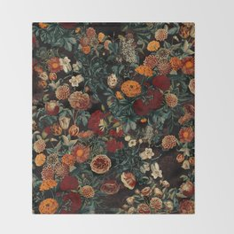 EXOTIC GARDEN - NIGHT XXI Throw Blanket