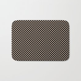 Black and Toasted Almond Polka Dots Bath Mat