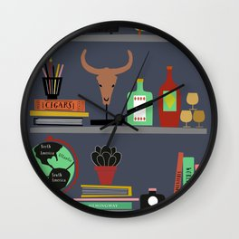 Mens shelf Wall Clock